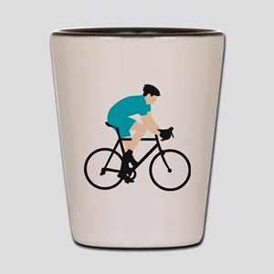 evolution bicycle racer Shot Glass