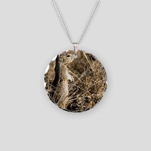 9x12 Cute Squirrel Necklace Circle Charm
