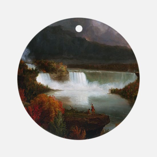 Thomas Cole Niagara Falls Round Ornament