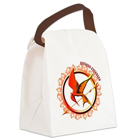 Katniss Everdeen the Girl Who Was Canvas Lunch Bag