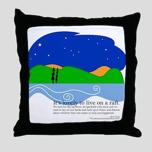 Huck Finn by Nancy Vala Throw Pillow