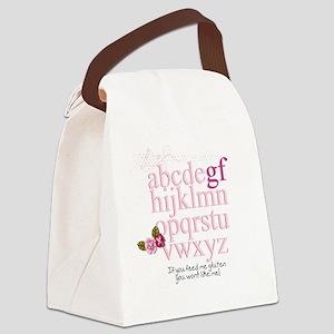 Gluten Free Alphabet Pink Canvas Lunch Bag