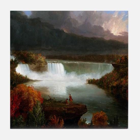 Thomas Cole Niagara Falls Tile Coaster