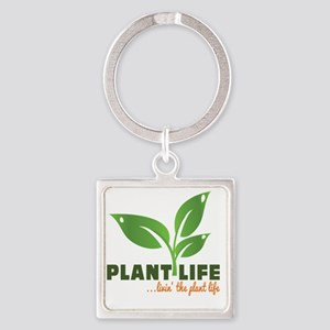 Plant Life Square Keychain