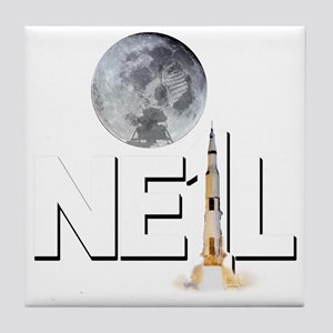 A TRIBUTE DESIGN TO NEIL ARMSTRONG Tile Coaster