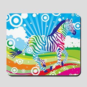 Psychedelic Zebra Mousepad
