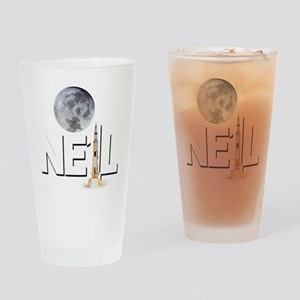 A TRIBUTE DESIGN TO NEIL ARMSTRONG Drinking Glass