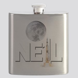 A TRIBUTE DESIGN TO NEIL ARMSTRONG Flask