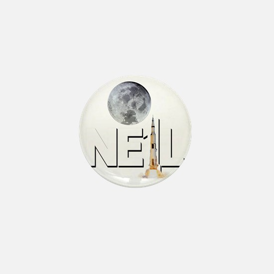 A TRIBUTE DESIGN TO NEIL ARMSTRONG Mini Button