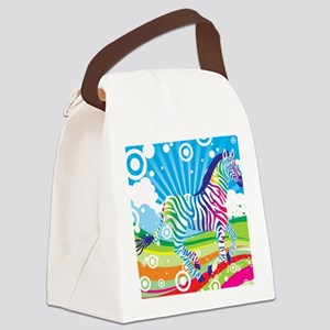 Psychedelic Zebra Canvas Lunch Bag