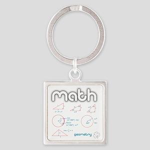 Geometry Square Keychain