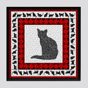 Textura Kitty #6 Tile Coaster