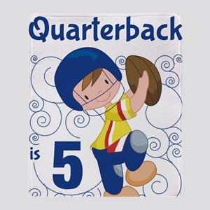 This Little Quarterback is 5 Throw Blanket