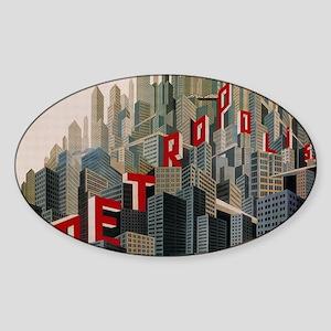 Metropolis Sticker (Oval)