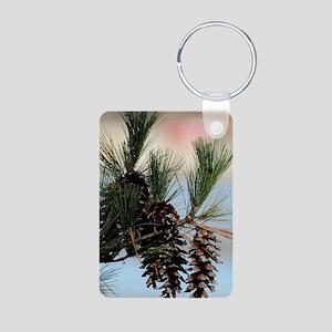 PhoneCase_PineCone_02 Aluminum Photo Keychain