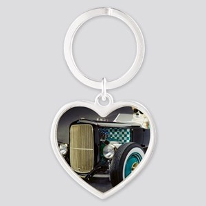 Hot Rod Dott Heart Keychain