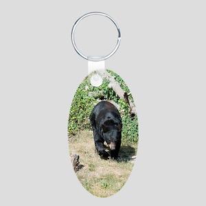 PhoneCase_Bear_03 Aluminum Oval Keychain