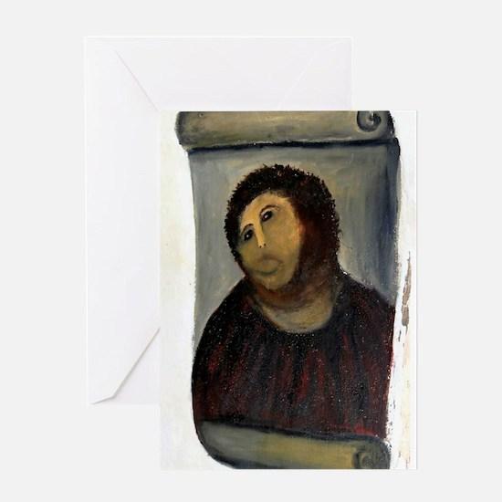 Jesus Fresco large Greeting Card