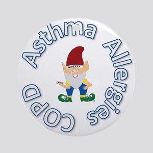 Asthma Allergies COPD for Caps Round Ornament