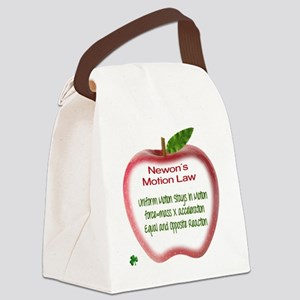 Newton's Motion Laws Canvas Lunch Bag