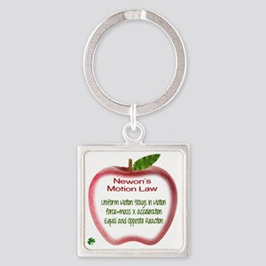 Newton's Motion Laws Square Keychain