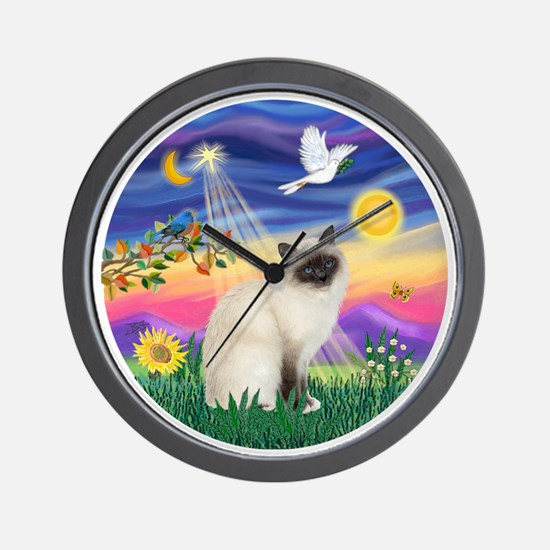 Twilight - Birman cat Wall Clock