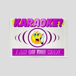 Karaoke? On the Way! Rectangle Magnet