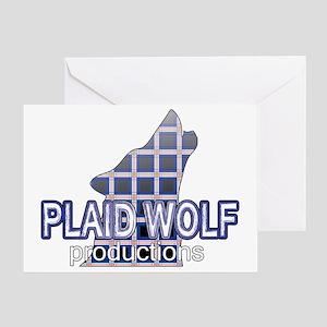 PlaidWolf Greeting Card