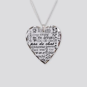 Ballet is hard terminology Necklace Heart Charm