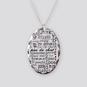 Ballet is hard terminology Necklace Oval Charm
