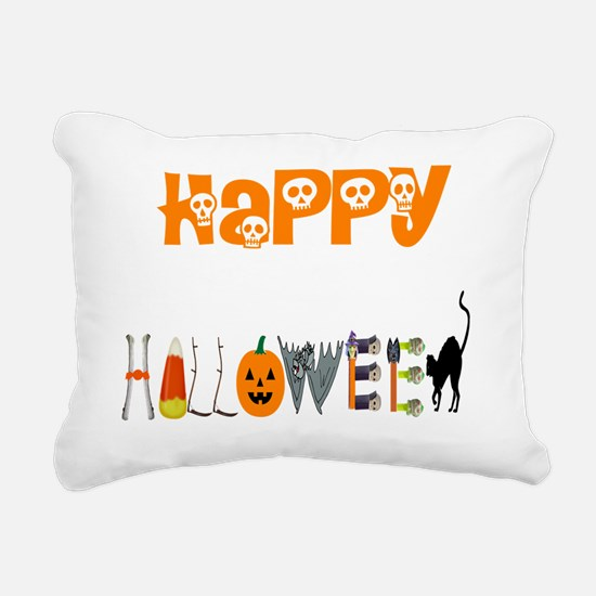 Happy Halloween Rectangular Canvas Pillow