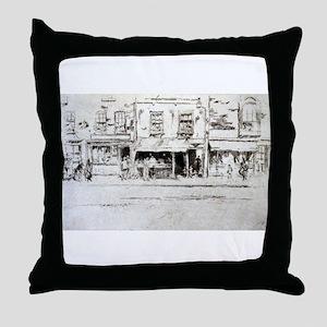 The Fish Shop - Whistler - c1880 Throw Pillow