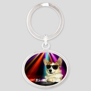 DJ Dott Oval Keychain