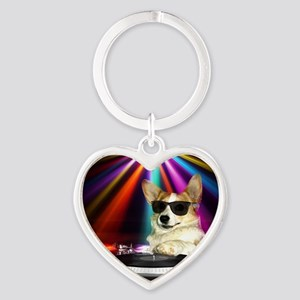 DJ Dott Heart Keychain