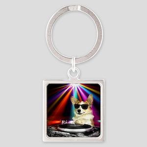 DJ Dott Square Keychain