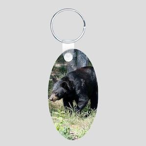 PhoneCase_Bear_01 Aluminum Oval Keychain