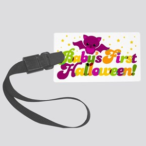 Babys First Halloween Large Luggage Tag