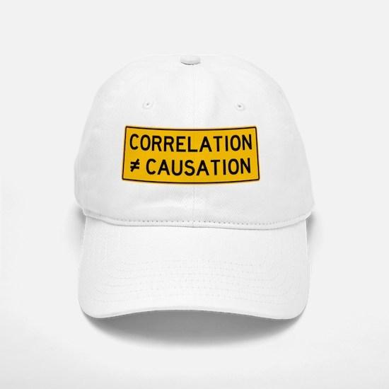 Correlation is Not Causation Print Baseball Baseball Cap