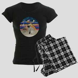 Christmas Angel-Birman cat Women's Dark Pajamas