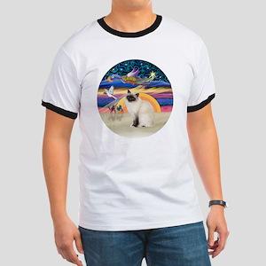 Christmas Angel-Birman cat Ringer T