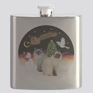 NightFlight-TwoBirmanCats Flask