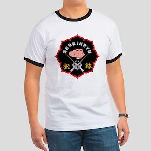 Black Shorin-Ryu Logo Ringer T