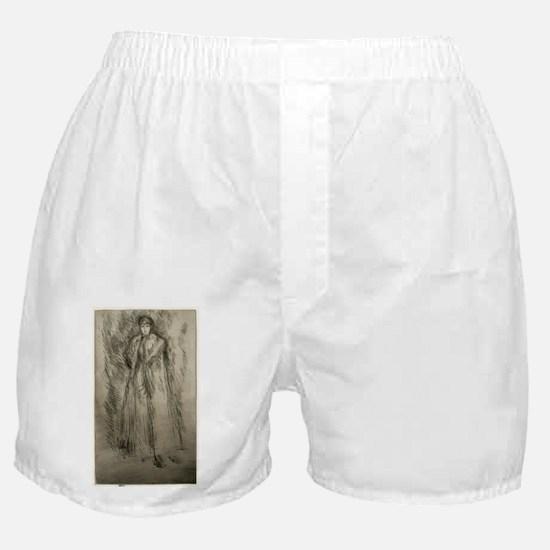 The Fur Cloak - Whistler - c1880 Boxer Shorts