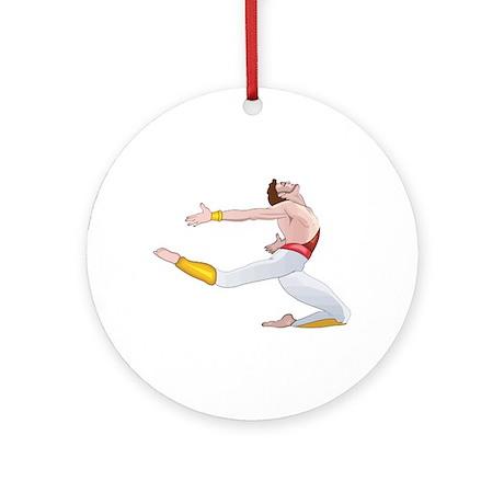 Ballet dancer Ornament (Round)