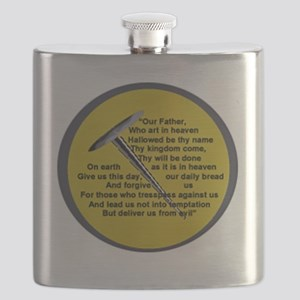 Lord's Prayer On Head Of Pin, We Can Do Anyt Flask