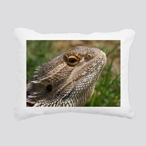 Beautiful Bearded Dragon Rectangular Canvas Pillow