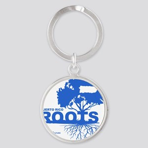 Puerto Rico Roots Round Keychain