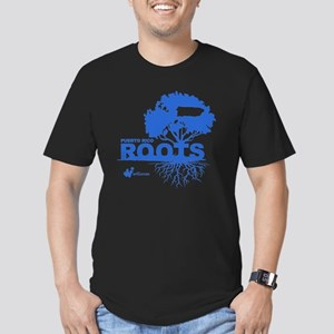 Puerto Rico Roots Men's Fitted T-Shirt (dark)