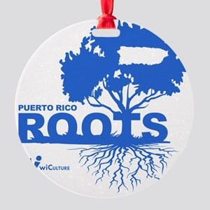 Puerto Rico Roots Round Ornament