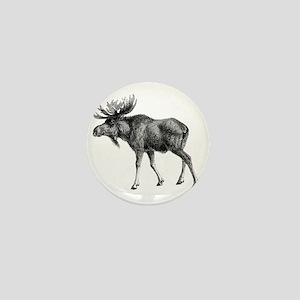 Vintage Moose Mini Button